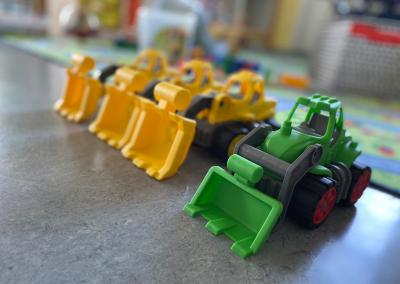 Spielzeugradlader